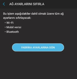 Android wifi ve bluetooth açılmıyor